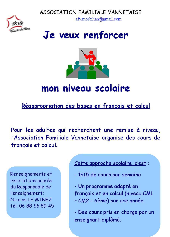 Cours de soutien pour adultes, en Français et calcul ...